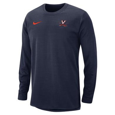 UVA Athletics University of Virginia Nike Therma-Fit Crew Neck Sweatshirt