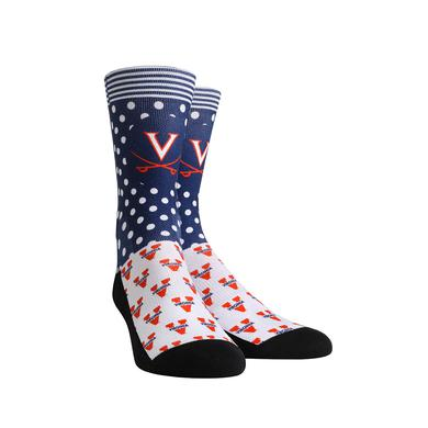 UVA Athletics University of Virginia Cavaliers Polka Logo Youth Womans Socks