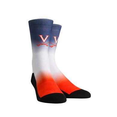 UVA Athletics University of Virginia Cavaliers Dip Dye Youth Womans Socks
