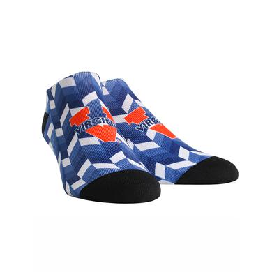 UVA Athletics University of Virginia Cavaliers Gradient Tile  Youth Womans Low Cut Socks