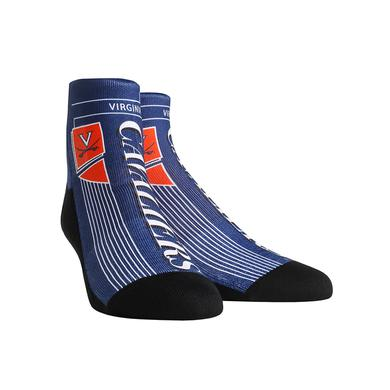 UVA Athletics University of Virginia Cavaliers Vintage Layout Adult Socks