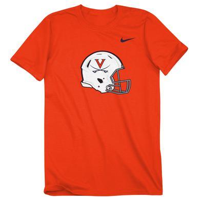 UVA Athletics University of Virginia Football Helmet T-shirt