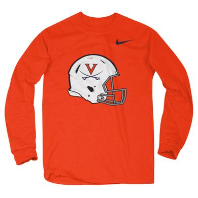 UVA Athletics University of Virginia 2017 Football Helmet LS T-shirt