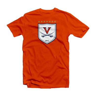 UVA Athletics University of Virginia Soccer 7-star Shield T-shirt