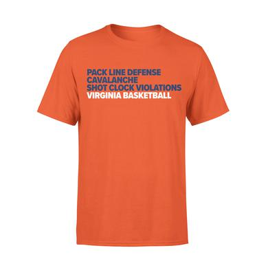 UVA Athletics University of Virginia Basketball Word Stack T-shirt