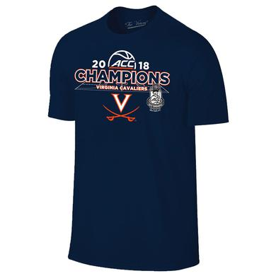 UVA Athletics University of Virginia 2018 ACC Champions Locker Room T-shirt