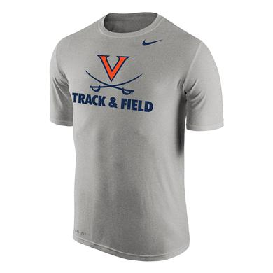 UVA Athletics University of Virginia Track and Field NIKE Dri-Fit T-shirt