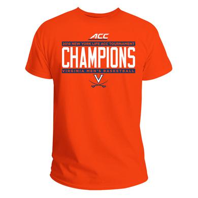 UVA Athletics University of Virginia 2018 ACC Champions T-shirt - Orange