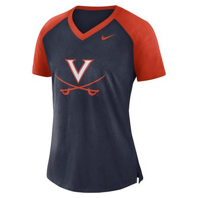 UVA Athletics University of Virginia V-sabre V-neck NIKE Ladies Top