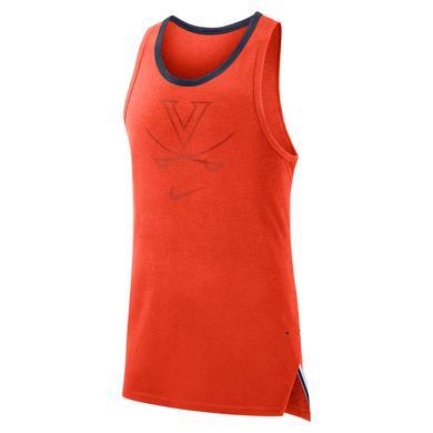 UVA Athletics University of Virginia 2018 Basketball Nike Dri-Fit Orange Tank Top