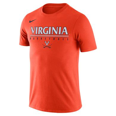 UVA Athletics University of Virginia 2018 Nike Orange Basketball T-shirt