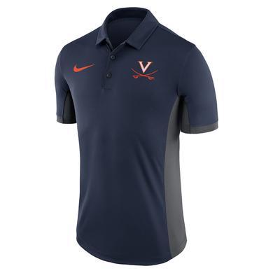 UVA Athletics University of Virginia 2018 Nike Navy Dri-Fit Polo