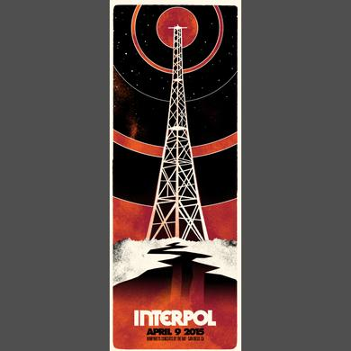 Interpol San Diego Tower Show Poster 4/9/15