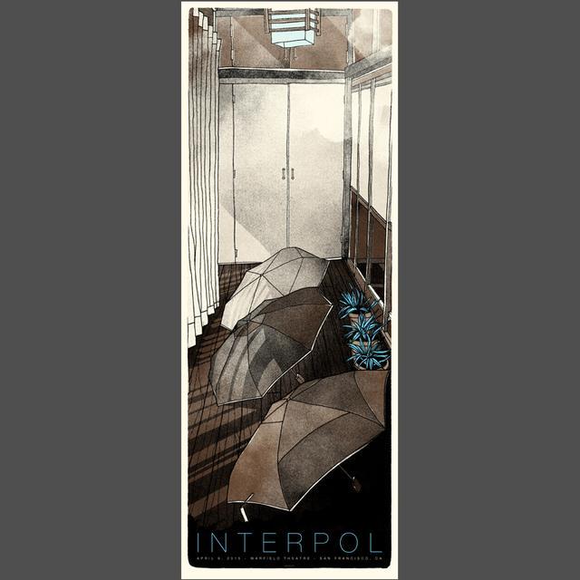 Interpol San Francisco Show Poster 4/21/15
