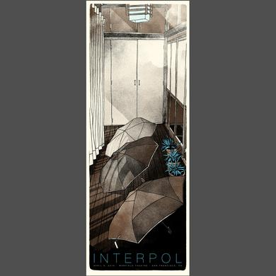 Interpol San Francisco Show Poster 4/21/15