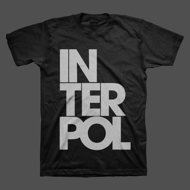 Interpol Stacked Unisex Tee (Black)