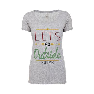 Dirty Heads Let's Go Outside Scoop Neck Tee