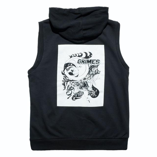 Grimes Black Sleeveless Hoodie (SOLD OUT)