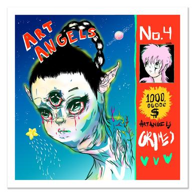 Grimes Art Angels Art Print