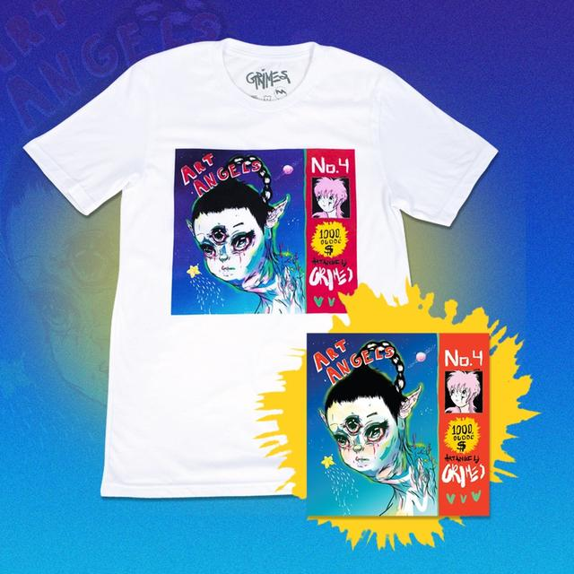 Grimes Art Angels CD and Shirt Bundle