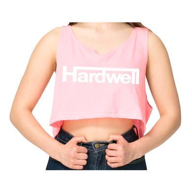 Hardwell Womens Neon Pink Crop Tank Top