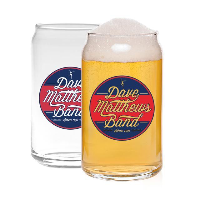DMB 16oz Circle Logo Beer Can Glass
