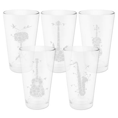 DMB Flower Series Pint Glasses