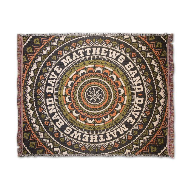Dave Matthews Band Firedancer Mandala Throw Blanket