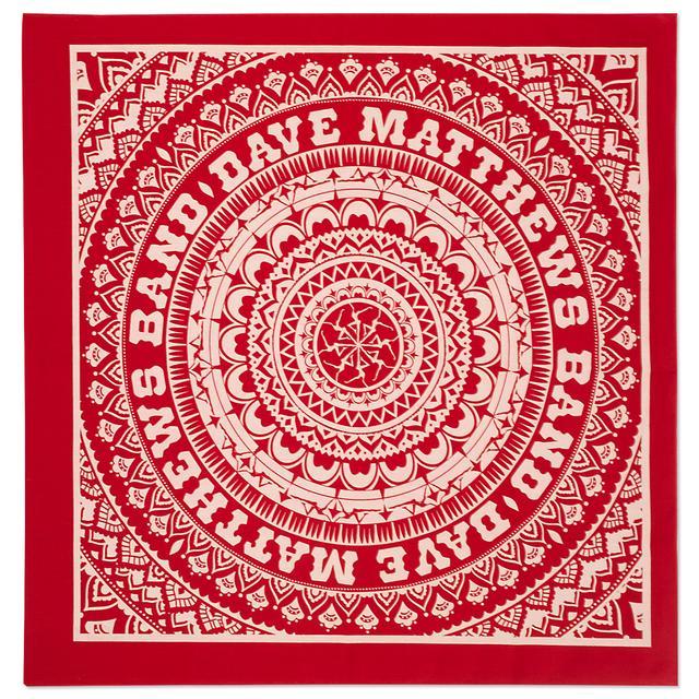 Dave Matthews Mandala Bandana - Red