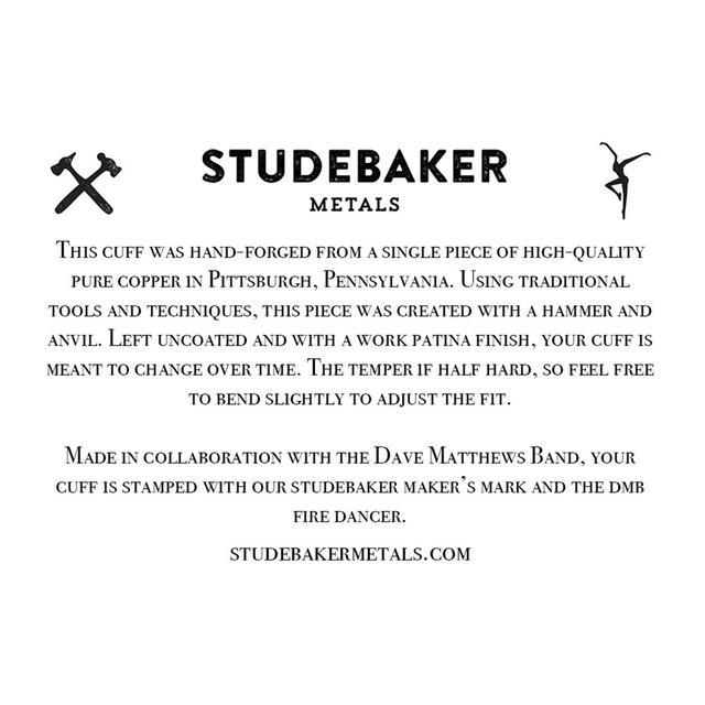 DMB/Studebaker Metals Workshop Copper Cuff