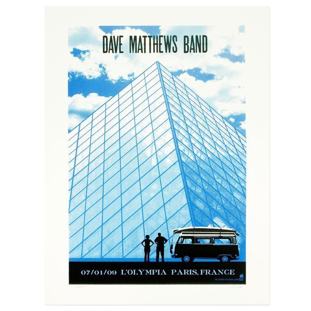 DMB Paris, France 7/01/09 Show Poster