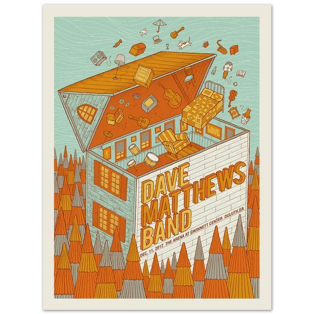DMB Show Poster - Duluth, GA 12/11/12