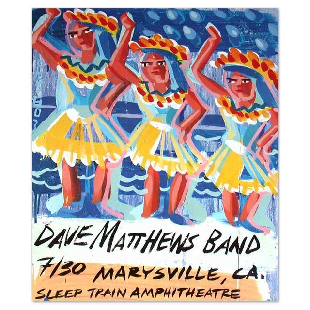 Dave Matthews Band Live Trax 26 Steve Keene Wooden Poster Painting
