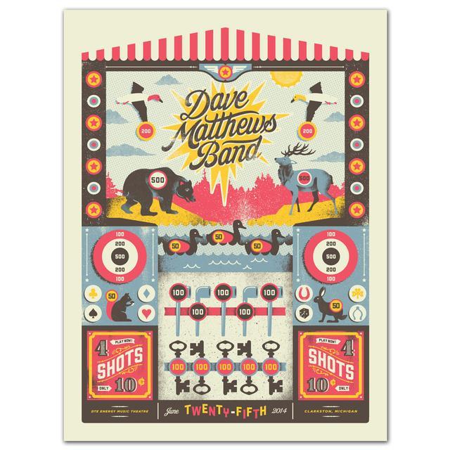 DMB Show Poster – Clarkston, MI 6/25/2014