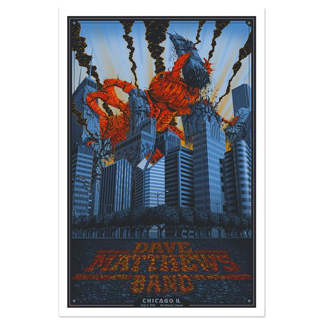 DMB Show Poster – Chicago, Illinois 7/5/2014