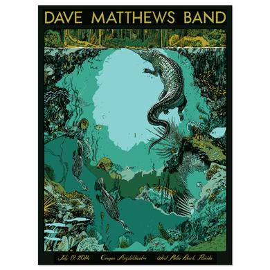 DMB Show Poster –  West Palm Beach, Florida 7/19/2014