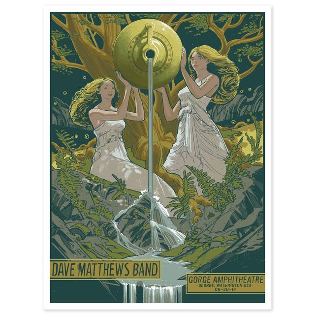 DMB Show Poster –  George, WA 8/30/2014