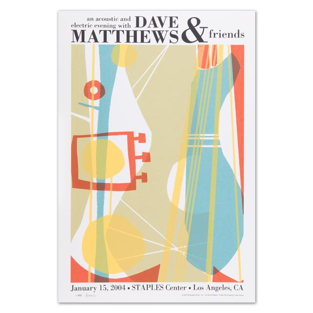 Dave Matthews Dave & Friends - Los Angeles 1/15/04 Show Poster