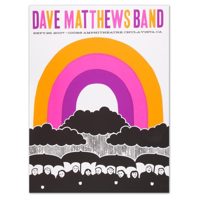 Dave Matthews Band - Chula Vista, CA 9/28/07 Show Poster