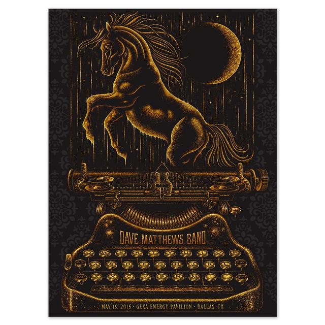 DMB Show Poster – Dallas, Texas 5/15/2015