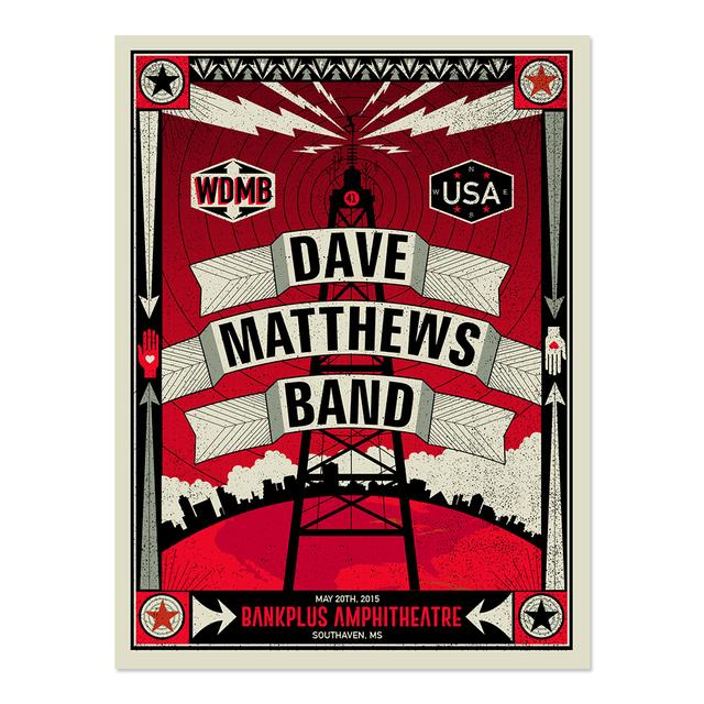 DMB Show Poster – Southaven, Mississippi 5/20/2015