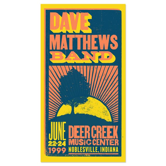 Dave Matthews Band Limited Edition Live Trax 34 - Deer Creek Music Center Poster