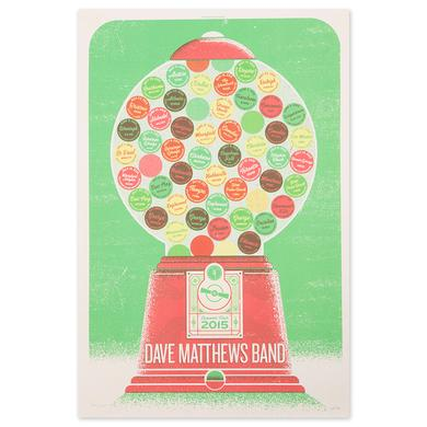 Dave Matthews Band Summer Tour 2015 Poster