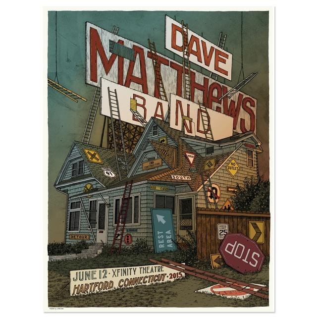 DMB Show Poster – Hartford, Connecticut 6/12/2015