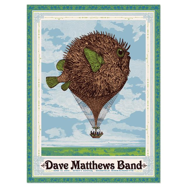 DMB Show Poster – Mansfield, Massachusetts 6/13/2015