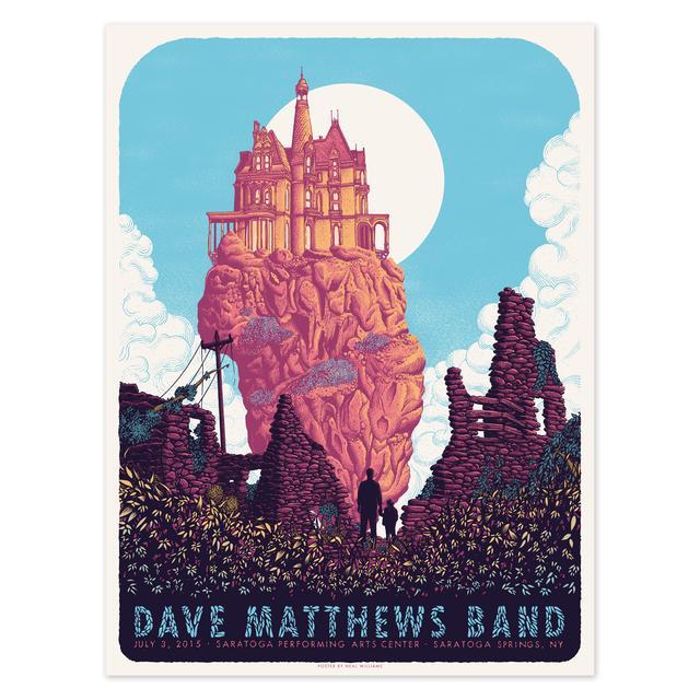 DMB Show Poster – Saratoga Springs, NY 7/3/2015