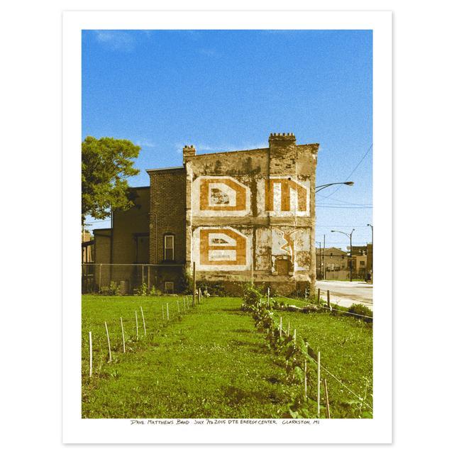 DMB Show Poster – Clarkston, MI 7/7/2015