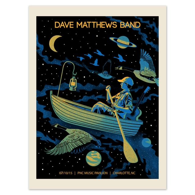 DMB Show Poster – Charlotte, North Carolina 7/10/2015
