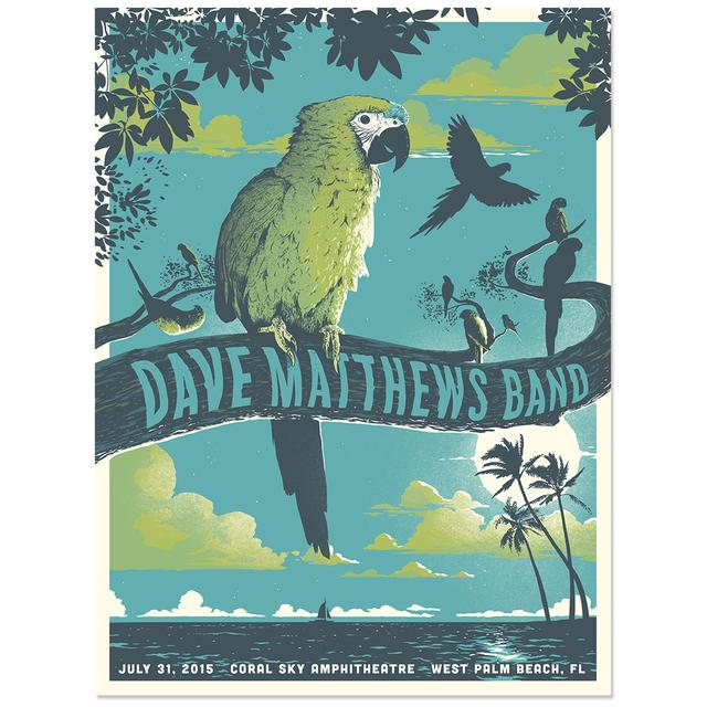 DMB Show Poster – West Palm Beach, FL  7/31/2015