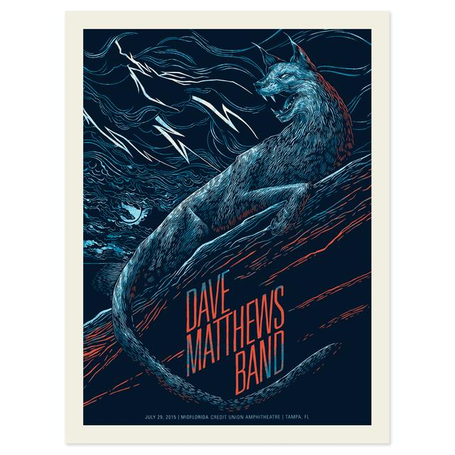 DMB Show Poster – Tampa, FL  7/29/2015